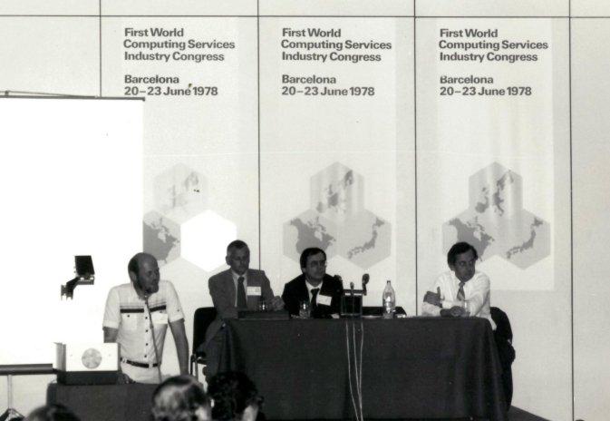 Min far, Børge Thygesen Frederiksen, taler til en konference i 1978