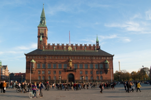 Town Hall Square in Copenhagen